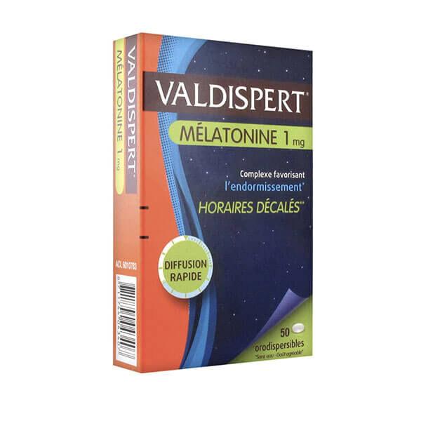 Valdispert Mélatonine 1mg 50 comprimés orodispersibles