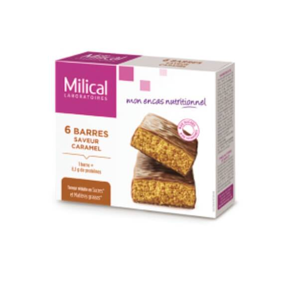 Milical Hyperprotéiné 6 barres minceur caramel