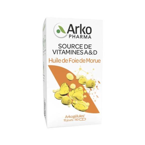 Arkopharma Arkogélules huile de foie de morue 60 gélules