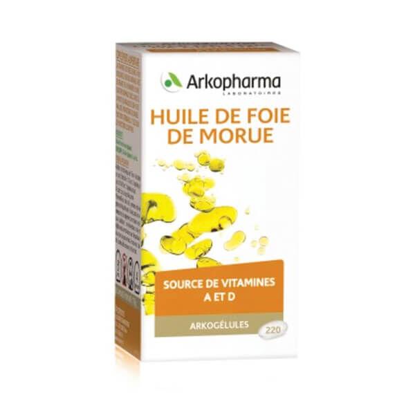 Arkopharma Arkogélules huile de foie de morue 220 gélules