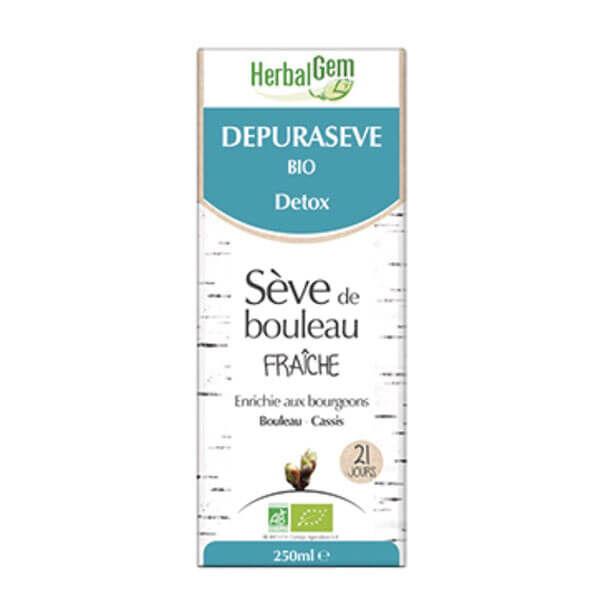 Herbalgem Sève de bouleau fraîche depuraseve bio detox 250ml