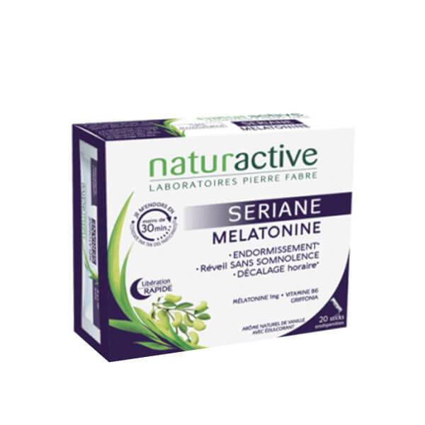 Naturactive Mélatonine sériane 20 sticks orodispersibles