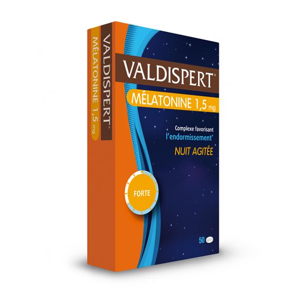 Valdispert Mélatonine 1,5mg nuit agitée 50 comprimés