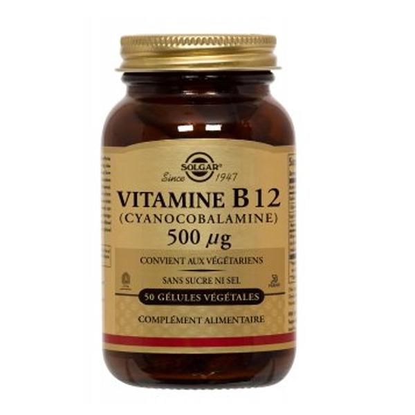 Solgar Vitamine b12 500µg 50 gélules végétales