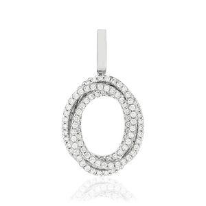 MATY Pendentif or blanc 750 diamants -
