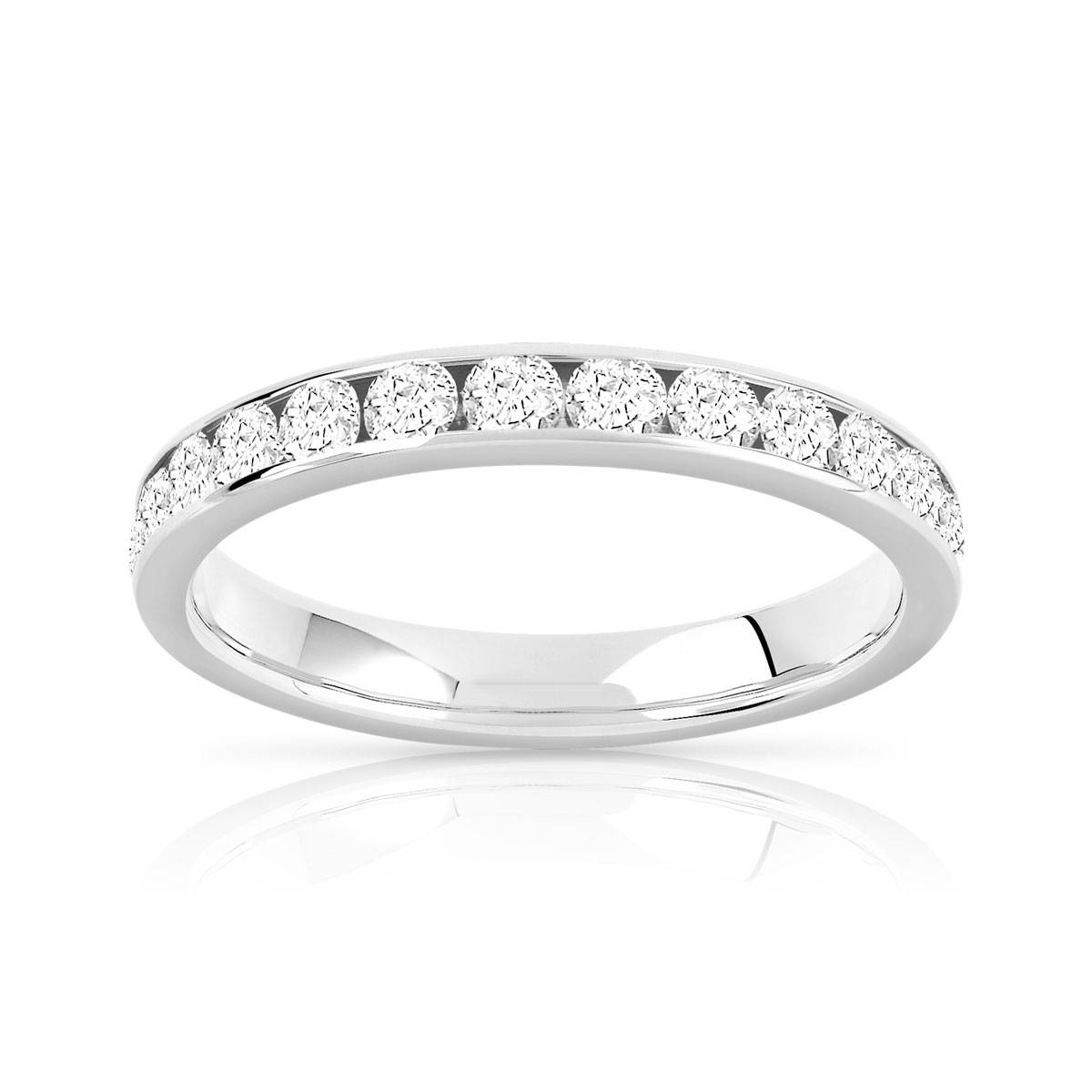MATY Alliance or 750 blanc diamants synthétiques 1.50 carat- MATY