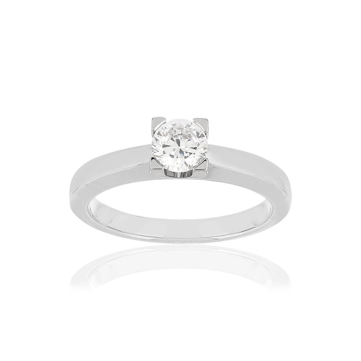 MATY Solitaire or blanc 750 diamant 0.50 carat H/SI- MATY