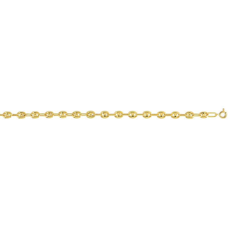MATY Bracelet or 375 jaune maille grain de café 18,5 cm -