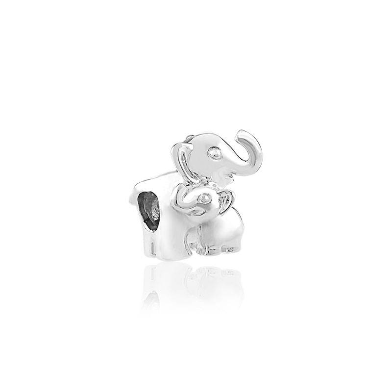 MATY Charm's argent 925 éléphant et son bébé- MATY