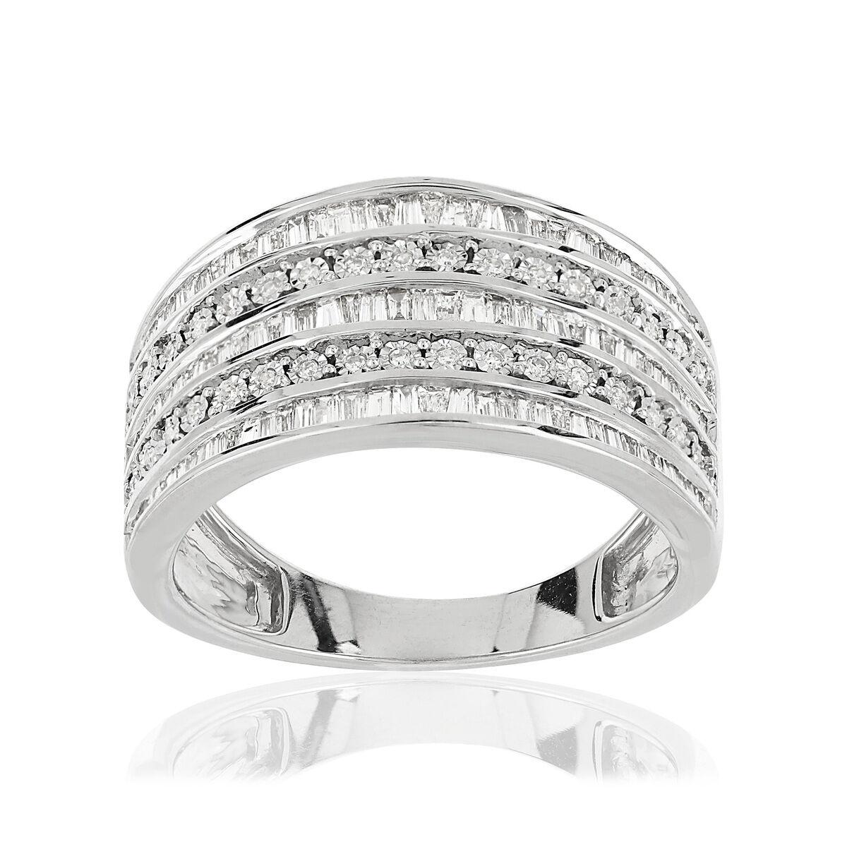 MATY Bague or 750 blanc diamants 0,5 carat- MATY