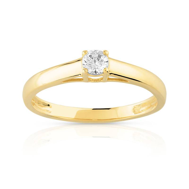 MATY Solitaire or 750 jaune diamant 0,15 carat- MATY