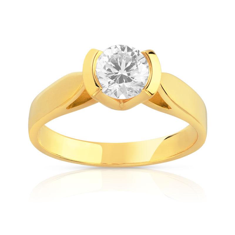 MATY Solitaire or 750 jaune diamant 0,7 carat- MATY