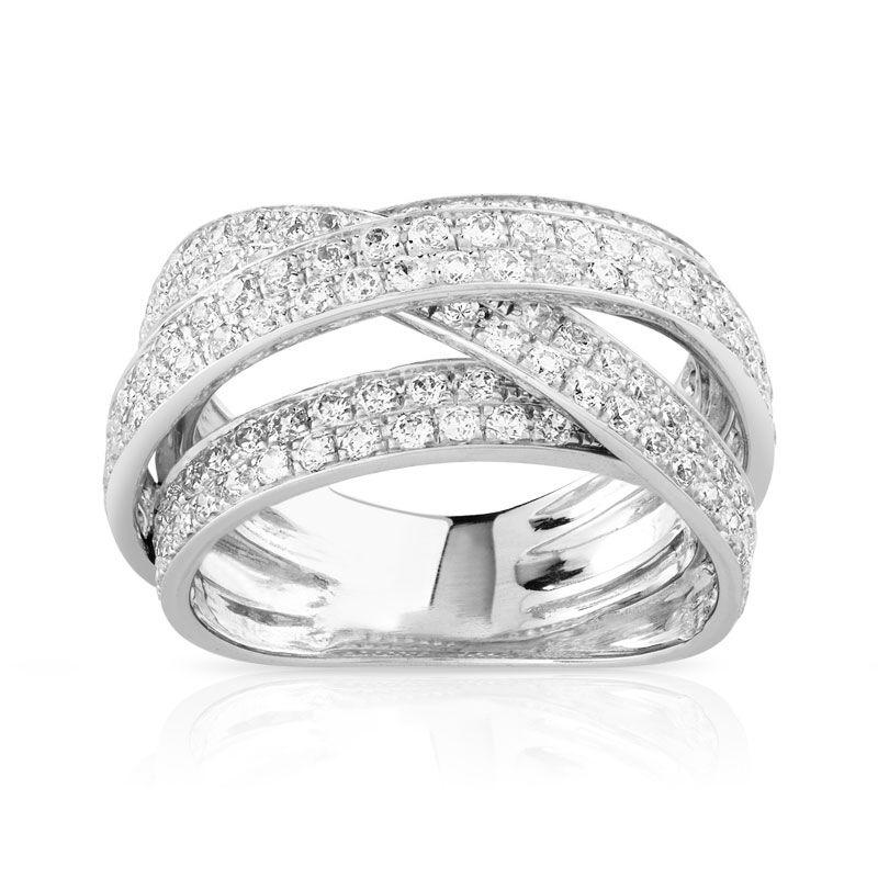 MATY Bague or 750 blanc diamant 1,70 carat- MATY