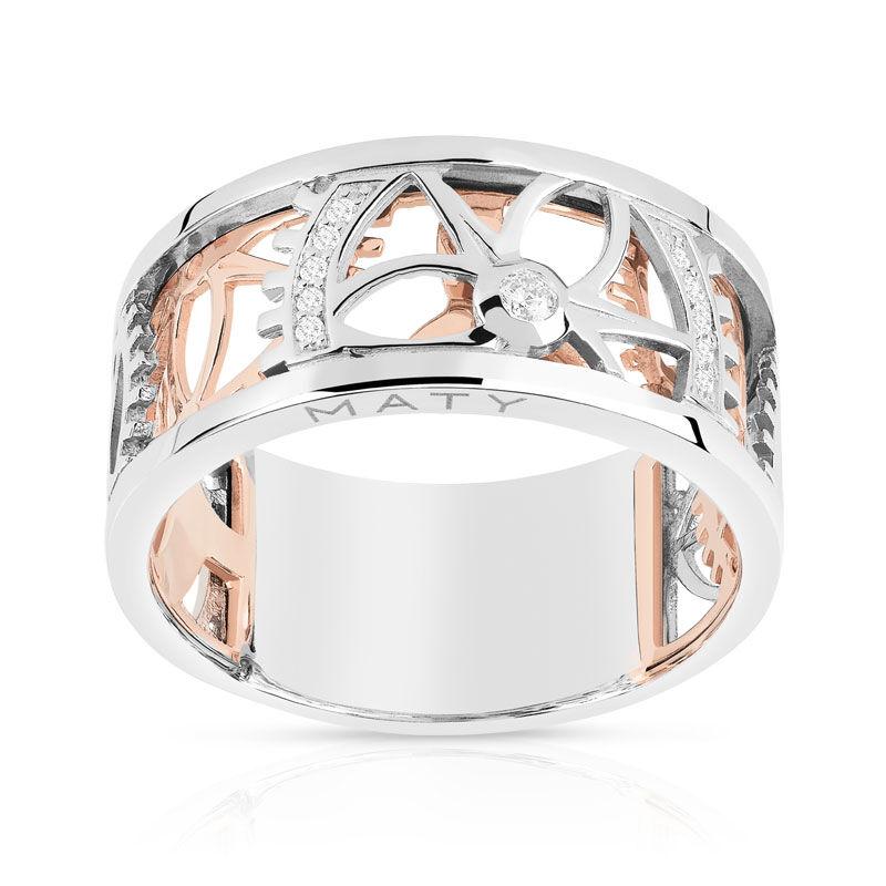 MATY Bague Vesontio 2 ors 750 diamants 0,06 carat- MATY