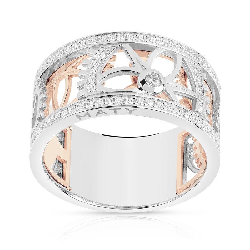 MATY Bague Vesontio 2 ors 750 diamants 0,40 carat- MATY