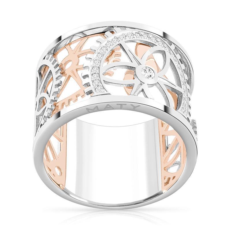 MATY Bague Vesontio 2 ors 750 diamants 0,12 carat- MATY