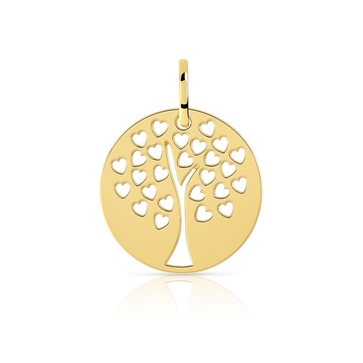 MATY Pendentif or 375 jaune arbre de vie -
