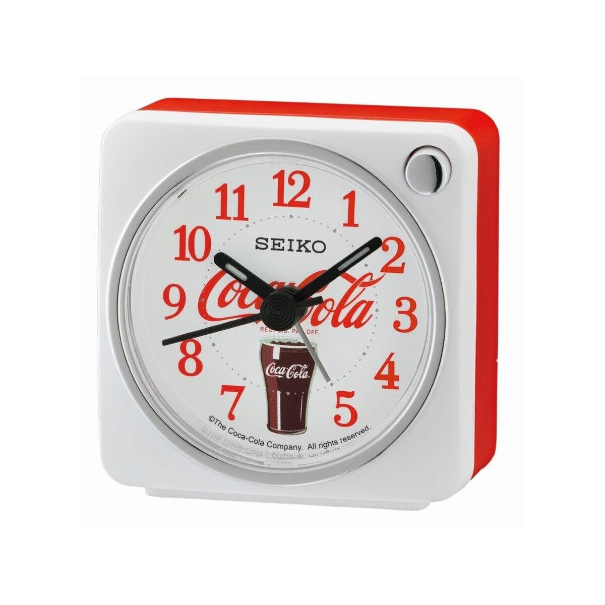 SEIKO Reveil seiko coca cola blanc rouge- MATY