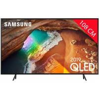 samsung tv qled 4k 108 cm samsung qe43q60r - mode ambiant - smart tv