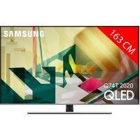 Samsung TV QLED 4K 163 cm SAMSUNG QE 65 Q 74T 2020