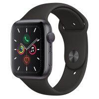 apple montre connectée apple watch series 5 gps 44mm aluminium gris sport