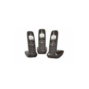 Siemens Téléphone sans fil SIEMENS GIGASET GIGASET AS470 TRIO Noir - Publicité