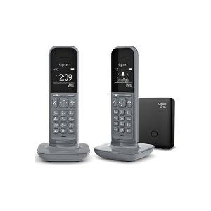 Siemens Téléphone sans fil GIGASET CL390 A DUO DARK GREY avec répondeur - Publicité