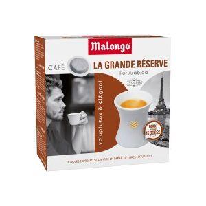 MALONGO Café MALONGO Café La Grande réserve - 16 dosettes - Publicité