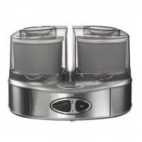CUISINART Sorbetière CUISINART ICE40BCE Machine à glace Duo (2 x 1L) Acier Brossé