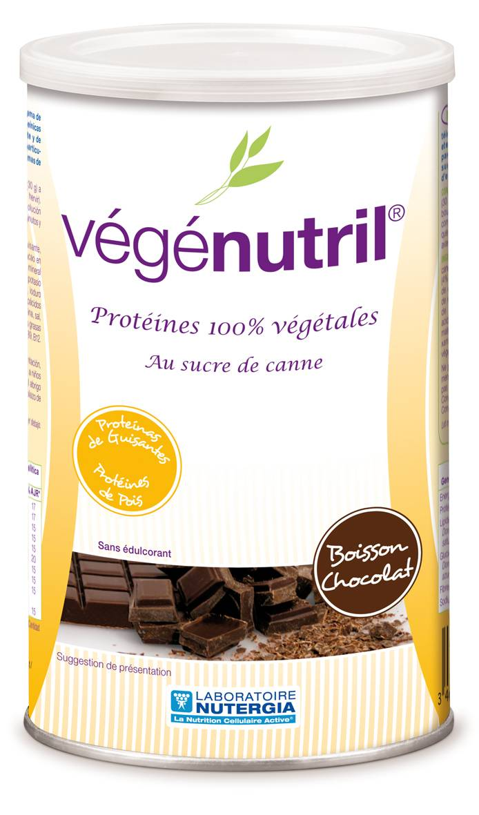 Eyeslipsface Vegenutril Boisson chocolat protéine pois 300 g-NUTERGIA (15.7109) 300