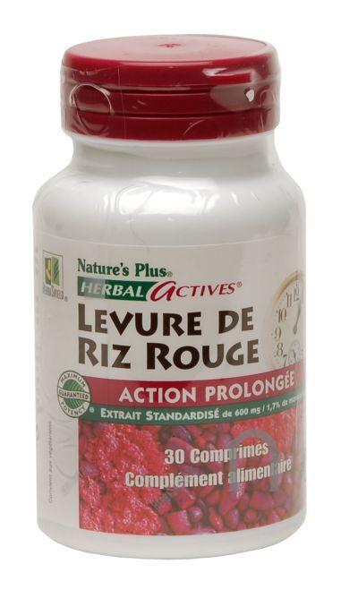 """Eyeslipsface """"Levure de riz rouge à action prolongée - 30 comprimés -NATURE'S PLUS (25.3791) 30"""""""