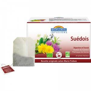 "Eyeslipsface ""Infusion Suédois Digestion & Transit BIO - 20 sachets - BIOFLORAL (105 42 009) 20"""