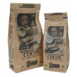 """Eyeslipsface """"Fibre de coco Bio - 1 kg - AMANPRANA (0000) 1"""""""