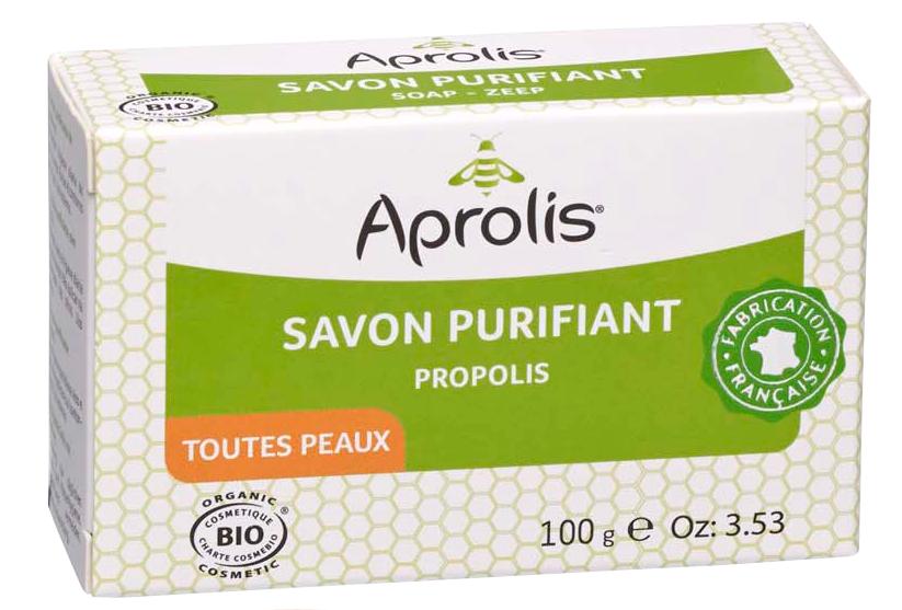 """Eyeslipsface """"Savon à la propolis Bio- 100g -APROLIS (0000) 100"""""""