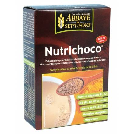 "Eyeslipsface ""Nutrichoco (Cacao, Céréales & extrait de Stévia)- 250g -ABBAYE DE 7 FONDS (0000) 250"""