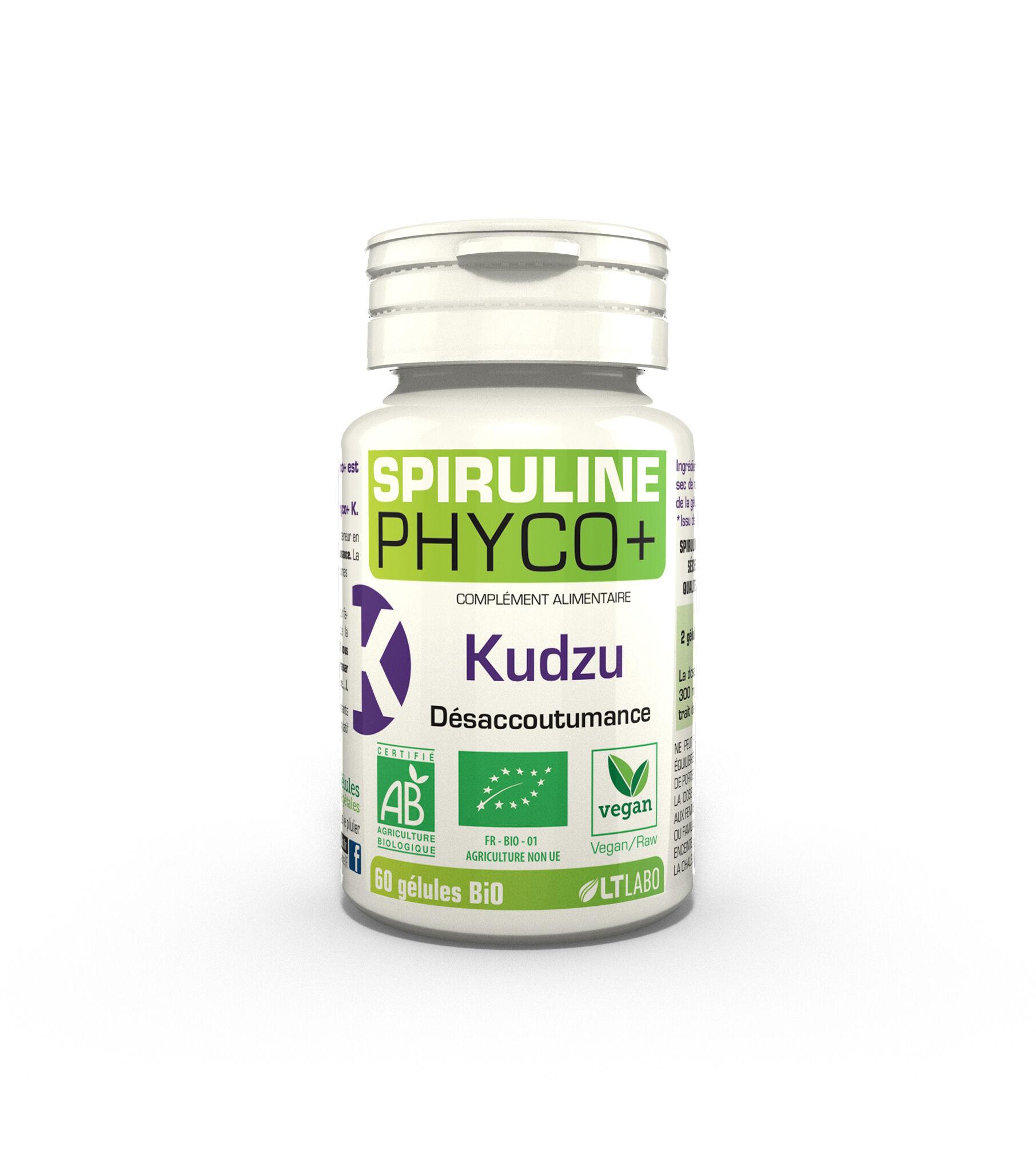 "Eyeslipsface ""Spiruline PHYCO+ Kudzu bio - 60 gélules - LT LABO (0000) 60"""
