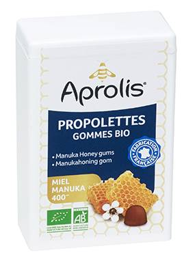 "Eyeslipsface ""Gommes tendres Bio propolettes Propolis - miel Manuka- 50g - APROLIS (0000) 50"""