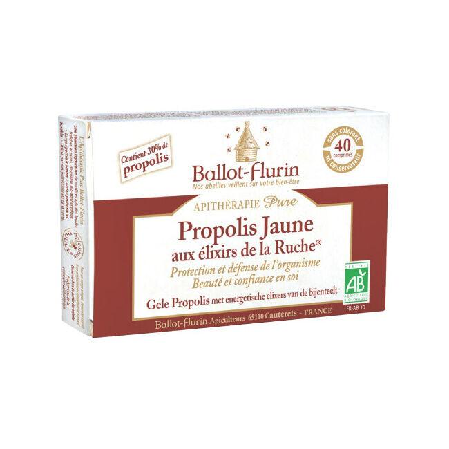 """Eyeslipsface """"Propolis Jaune aux Elixirs de la ruche -40 comprimés -BALLOT FLURIN (0000) 40"""""""