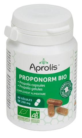 """Eyeslipsface """"Proponorm Bio : Poudre de propolis en gélules- 60gélules -APROLIS (0000) 60"""""""