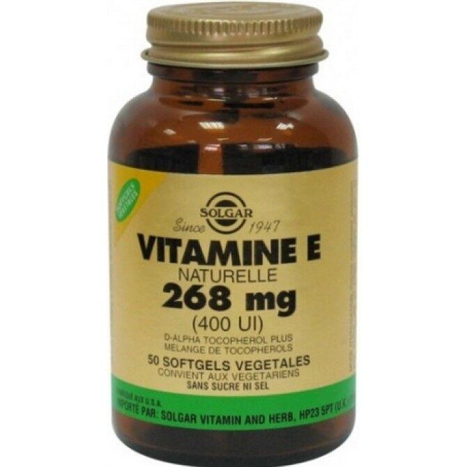 "Eyeslipsface ""Vitamine E 400 UI (268mg) Source Naturelle - 50 caps - SOLGAR (17.9668) 50"""