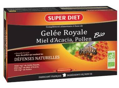 """Eyeslipsface """"Gelée Royale Bio-20 ampoules - SUPER DIET (18.1280) 20"""""""