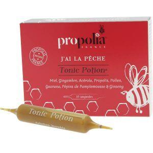 "Eyeslipsface ""Tonic potion Propolis Miel Gingembre Acèrola & Pollen - 10ampoules-100mL -APIMAB - PROPOLIA (0000) 10"""