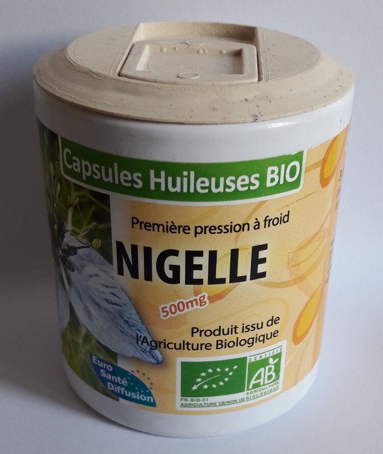 "Eyeslipsface ""Nigelle capsules 500mg - BIO -100 capsules -ESD / PHYTOFRANCE (11.1991) 100"""