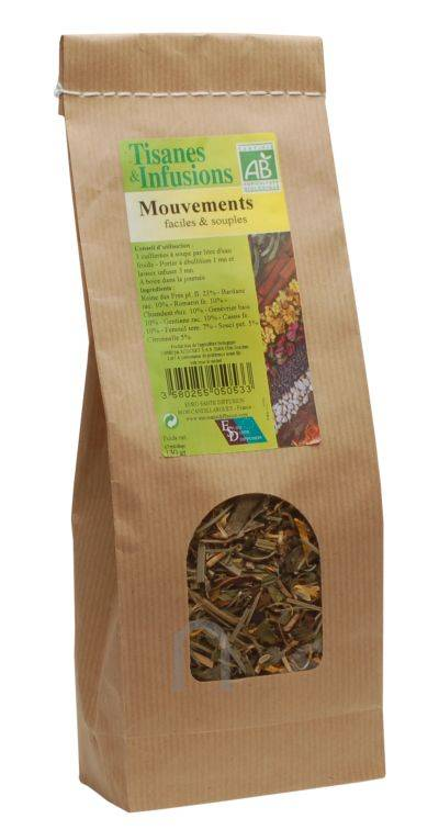"""Eyeslipsface """"Tisane & Infusion Mouvements faciles & souples Bio -130 g -ESD / PHYTOFRANCE (7.5735) 130"""""""