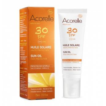 "Eyeslipsface ""Huile solaire corps SPF 30 Bio-75ml -ACORELLE (0000) 75"""
