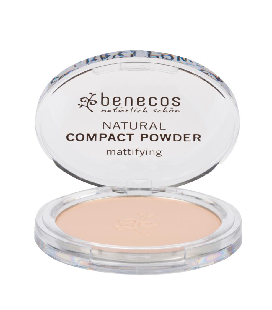 """Eyeslipsface """"Poudre compacte porcelaine (porcelain) BIO - BENECOS (228 41 106) 9"""""""