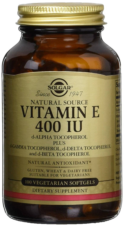 "Eyeslipsface ""Vitamine E 400 UI Source Naturelle - 100 caps - SOLGAR (0000) 100"""