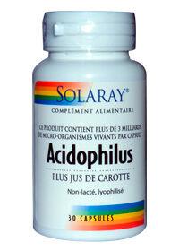 """Eyeslipsface """"Acidophilus Plus Jus de Carotte (non lacté) - SOLARAY (0000) 30"""""""