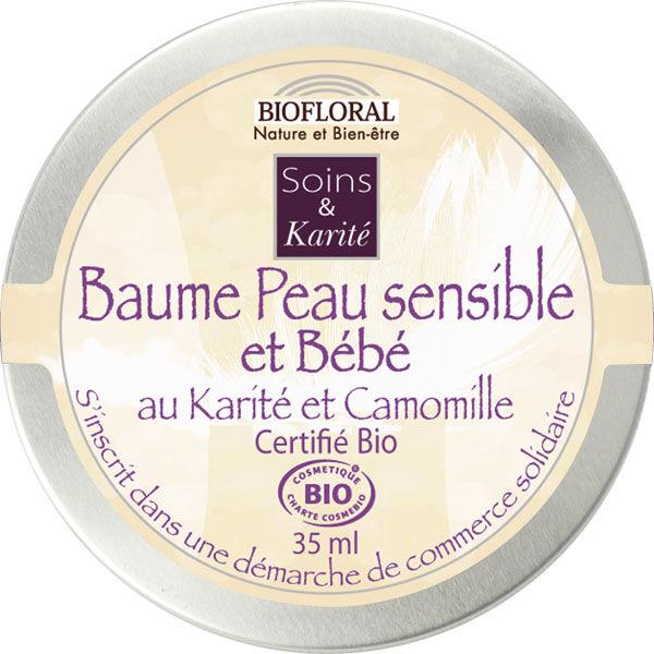 """Eyeslipsface """"Baume Peau sensible et bébé Karité et Camomille - BIOFLORAL (105 30 046) 35"""""""