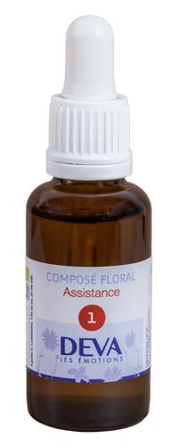 """Eyeslipsface """"Fleurs de Bach - Assistance - Composé floral n° 1 - 30 ml - DEVA (12.0040) 30"""""""